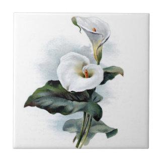 Calla Lily Design Ceramic Tile