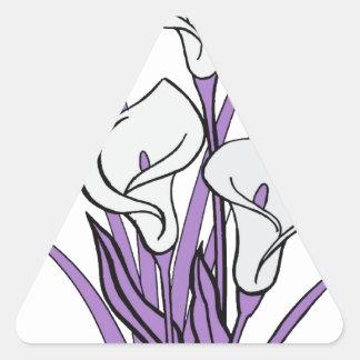 Calla Lily Design Triangle Sticker