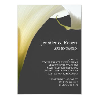 Calla Lily Engagement Invitation