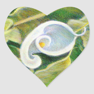 Calla Lily Fine Art Flower Sticker