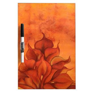 Calla Lily Fire Dry Erase Whiteboard