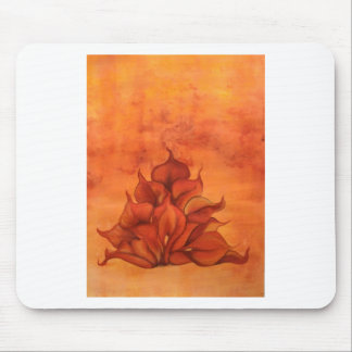 Calla Lily Fire Mouse Pads