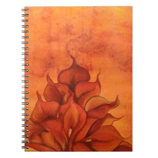Calla Lily Fire Spiral Note Book