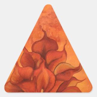 Calla Lily Fire Triangle Sticker