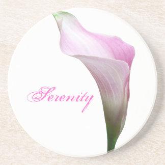Calla Lily Floral Photography Coaster