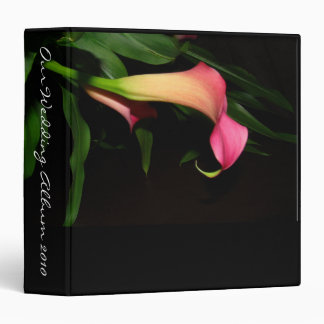 Calla Lily Flower Floral Wedding Garden 3 Ring Binder