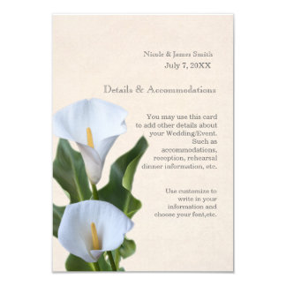 Calla Lily Flowers Floral Elegant Accommodations Card