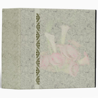 Calla Lily Flowers Floral Photography 3 Ring Binder