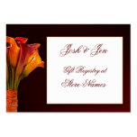 Calla lily gift registry wedding card business card