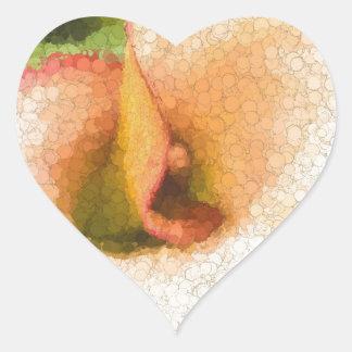 Calla Lily Heart Sticker