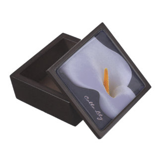 Calla Lily Illustration Collectible Trinket Boxes