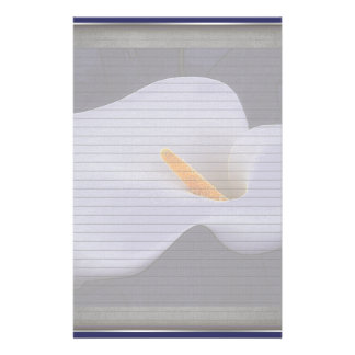 Calla Lily Illustration Optional Lines Note Paper