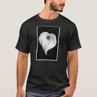 Calla Lily in Black and White T-Shirt
