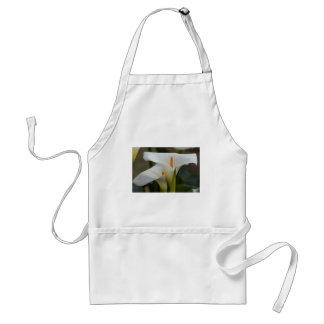 calla lily in the garden adult apron