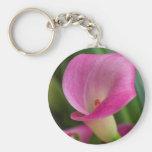 calla lily in the garden basic round button keychain