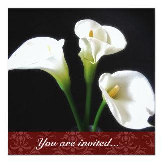 Calla Lily invitation