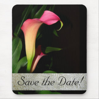 Calla Lily Lace Save the Date! Mousepad