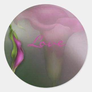 Calla Lily Love Classic Round Sticker