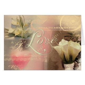 Calla lily love collage card