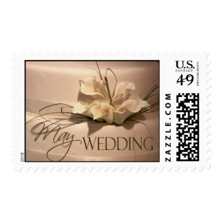 Calla lily May Wedding ... Postage Stamp