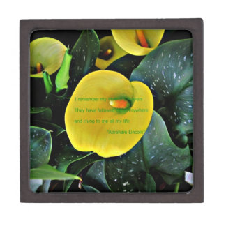Calla Lily Mother's day with quote gift box