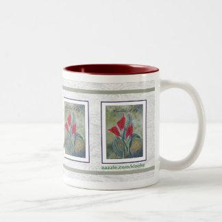 calla lily mug
