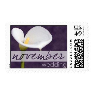 Calla Lily November Stamp