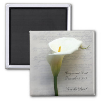 calla lily on handwriting magnet