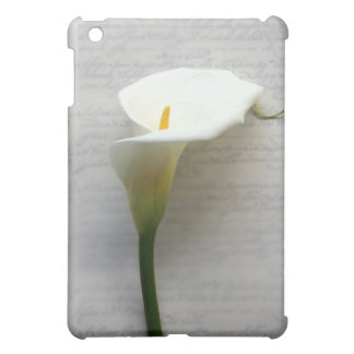 calla lily on old handwriting ipad case