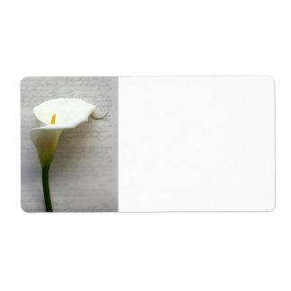 calla lily on old handwriting label