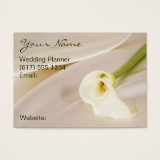 Calla Lily On White Satin Business Card