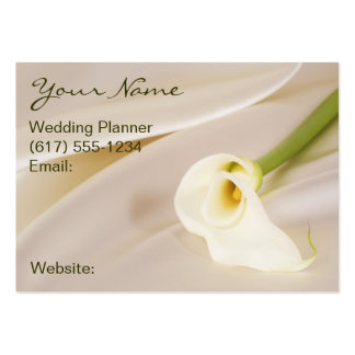 Calla Lily On White Satin Large Business Card