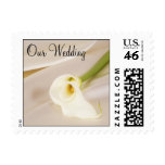Calla Lily On White Satin, Our Wedding Stamps