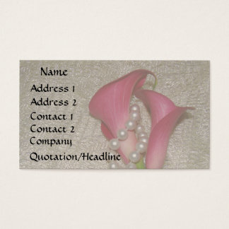 Calla Lily Pearls Business Card