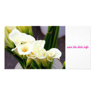 calla lily photocard personalized photo card