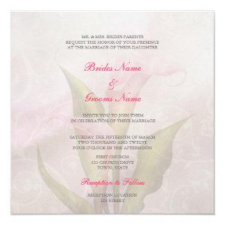 Calla Lily Pink 2 Wedding Invitation