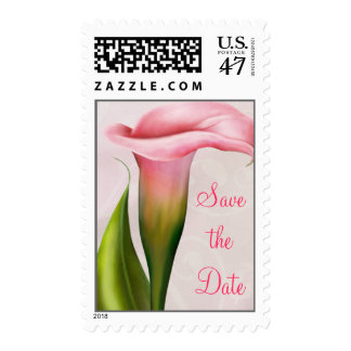 Calla Lily Pink Postage ~ Save the Date