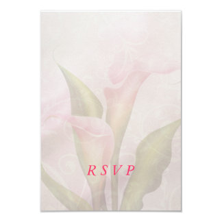 Calla Lily Pink RSVP Card Personalized Invitations
