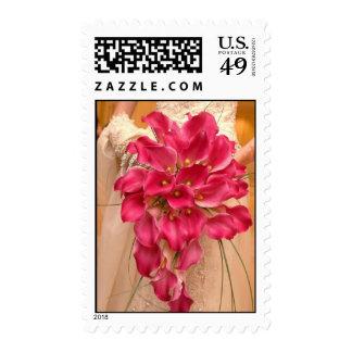 Calla Lily Pink Wedding Postage