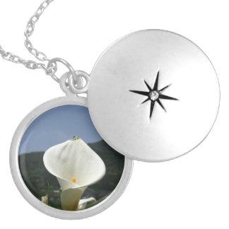 Calla Lily Plantation, Taiwan Round Locket Necklace