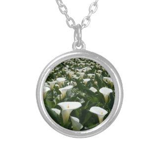Calla Lily Plantation, Taiwan Round Pendant Necklace