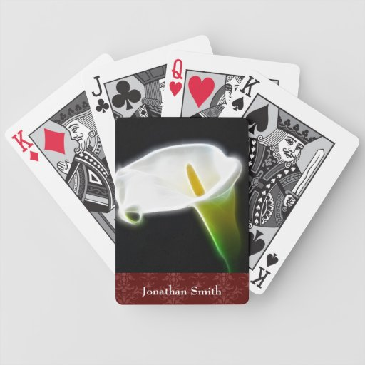 Calla Lily Playing Cards