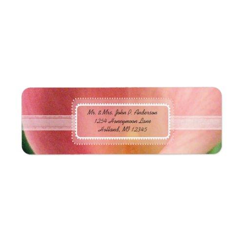Calla Lily Retrun Address Label label