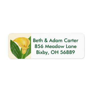Calla Lily return address label