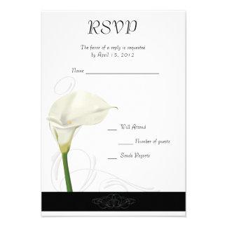 Calla Lily RSVP Card Custom Invites