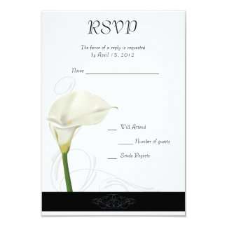 Calla Lily RSVP Card