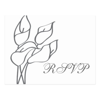 Calla Lily RSVP postcard