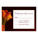 Calla lily RSVP response card Large Business Cards (Pack Of 100)