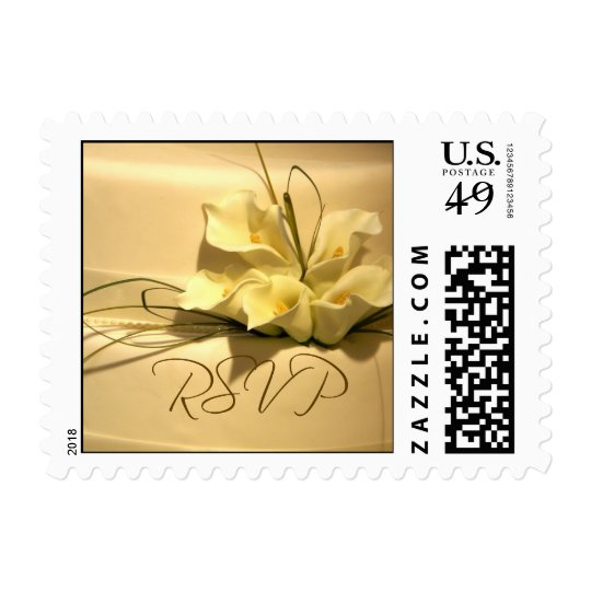 Calla lily RSVP Wedding postage