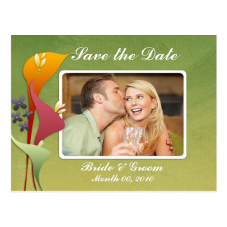 Calla Lily Save the Date Photo Postcards